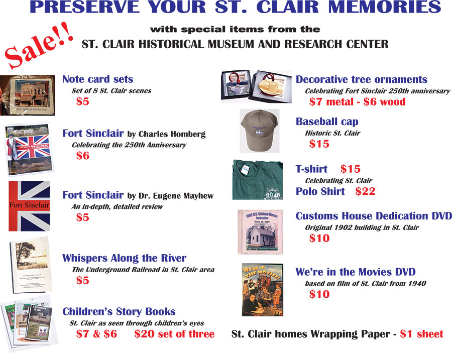 St. Clair Historical Museum Merchandise
